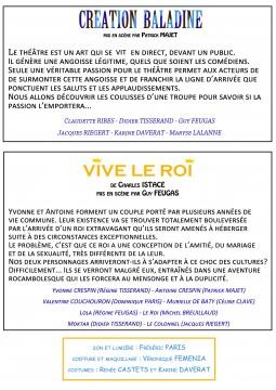 flyers VERSO VIVE LE ROI
